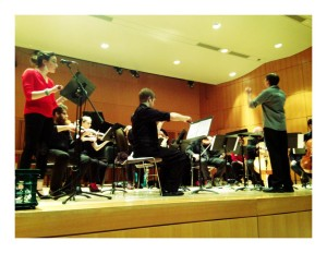 Conducting the Contemporary Music Ensemble (CME).